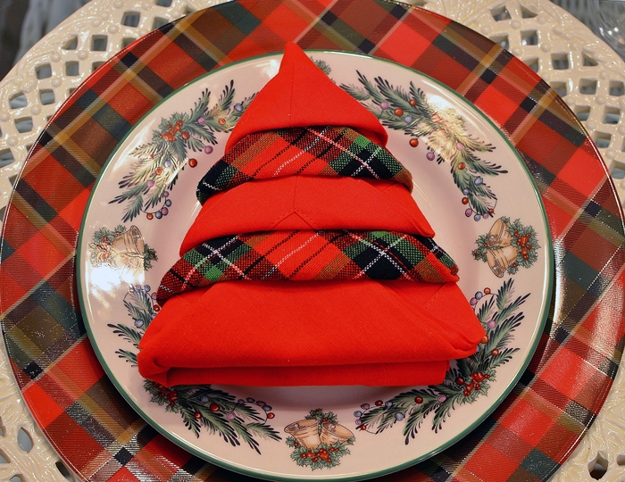 Christmas Tree Napkin Fold Tutorial Between Naps On The Porch