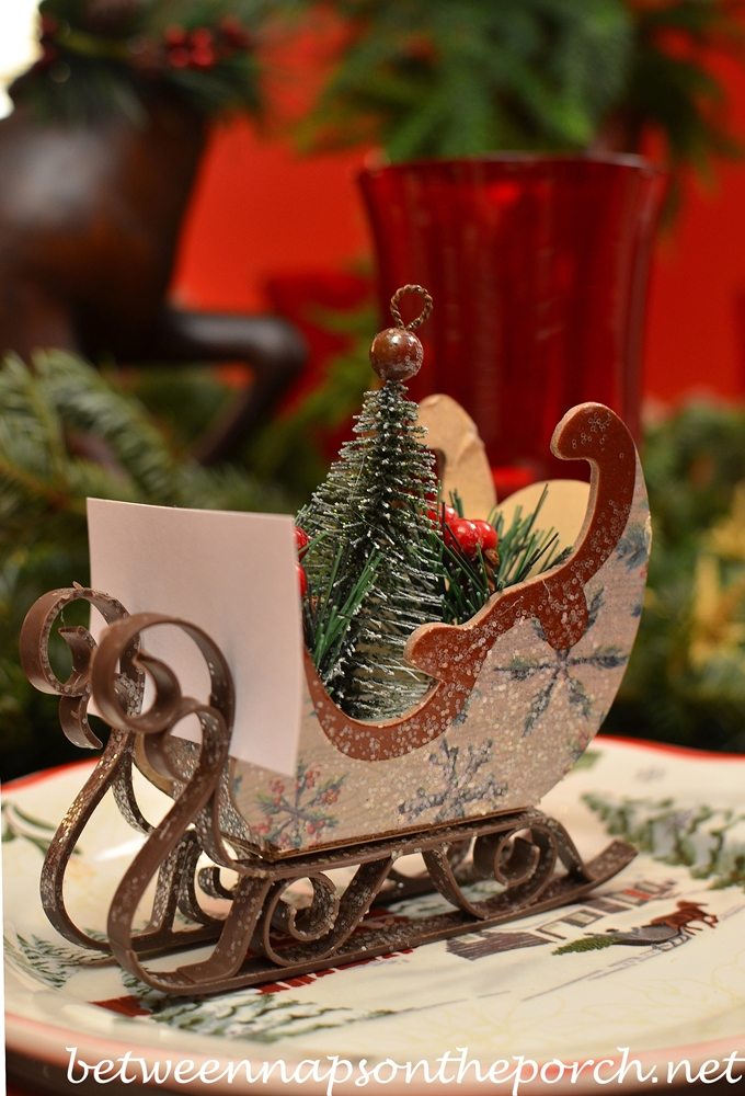 Christmas Table Setting Tablescape With Plaid Plates And A