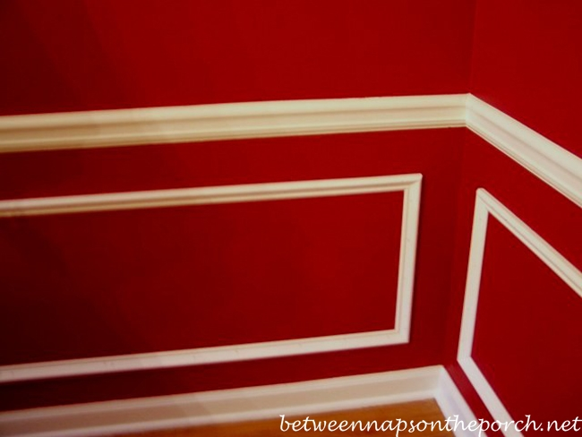 how to put chair rail molding desk good posture dining room upgrade add picture beneath a wainscoting under in