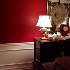 Oak Chair Rail Captain Seat Covers Dining Room Upgrade Add Picture Molding Beneath A Wainscoting Under In