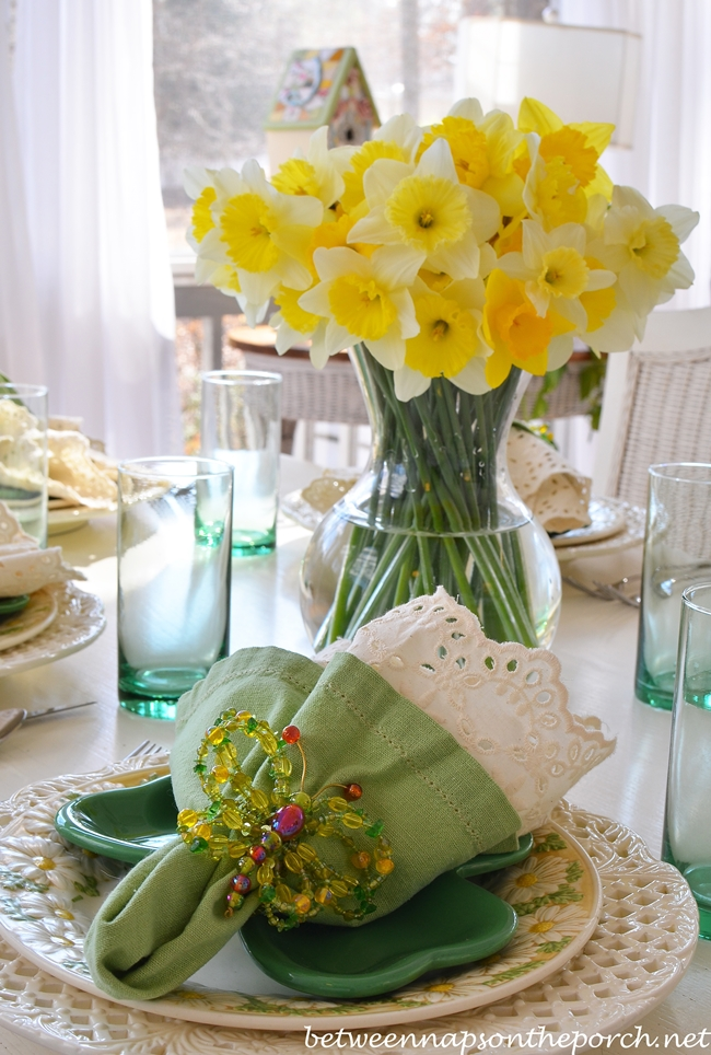 St Patricks Day Spring Table Setting Tablescape
