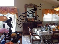 Halloween Table With Edgar Allan Poe Raven Theme