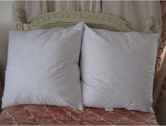 Feather And Down Euro Pillow Sham Inserts Vs Poly Filled