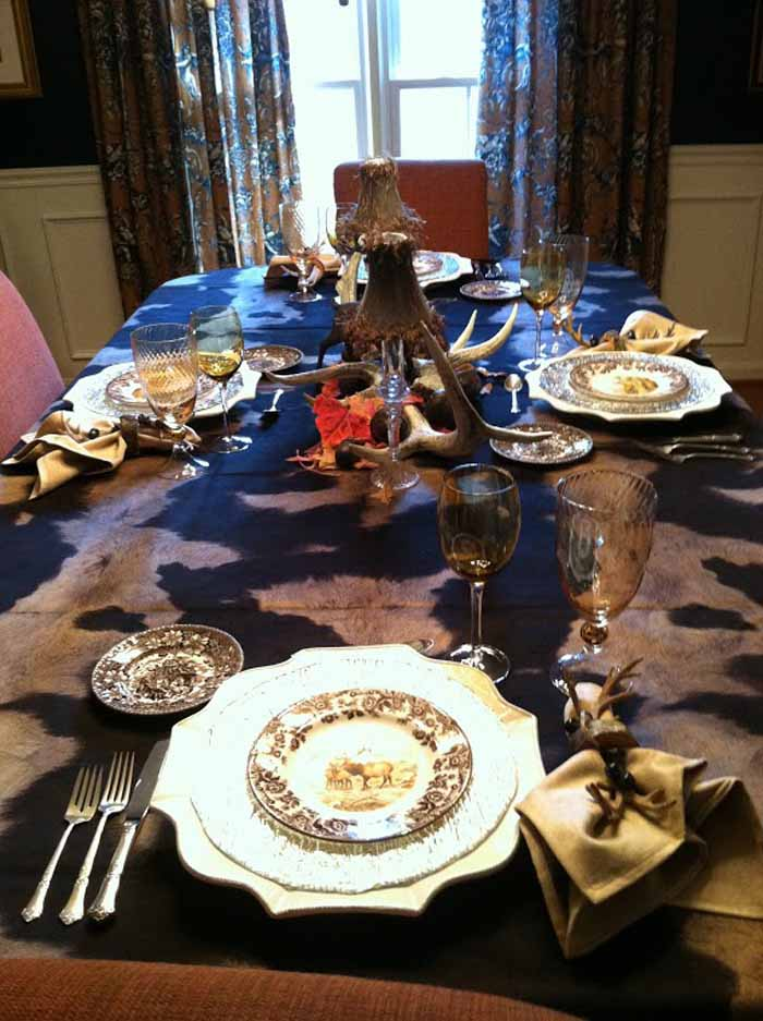 Warming Up The New Year With A Woodland Table Setting