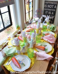 Easter Spring Table Setting For Children