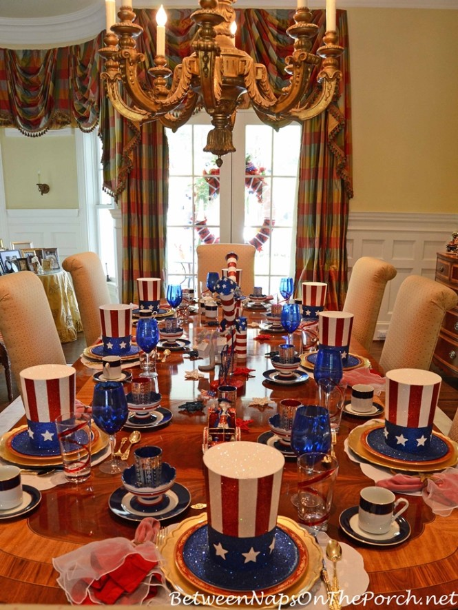Uncle Sam Centerpiece Use The Paper Mache Top Hat And Other Decorating Elements To Create