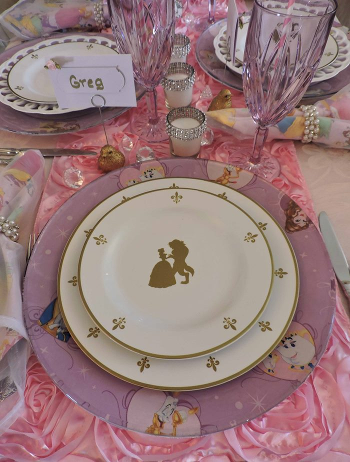 Princess Themed Baby Shower Table With Royal Albert Old