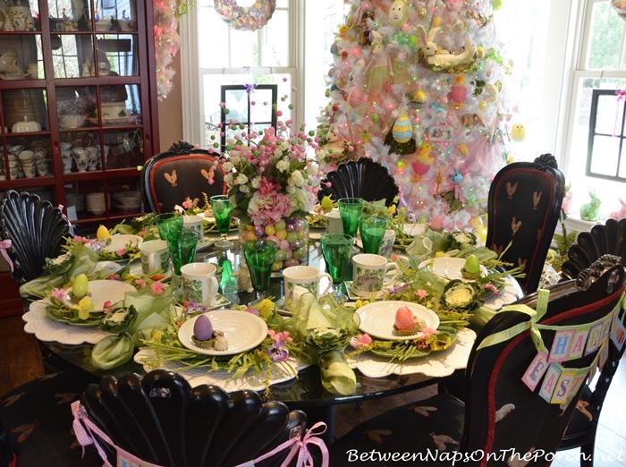 A Spring Easter Table With Bordallo Pinheiro Cabbage Plates