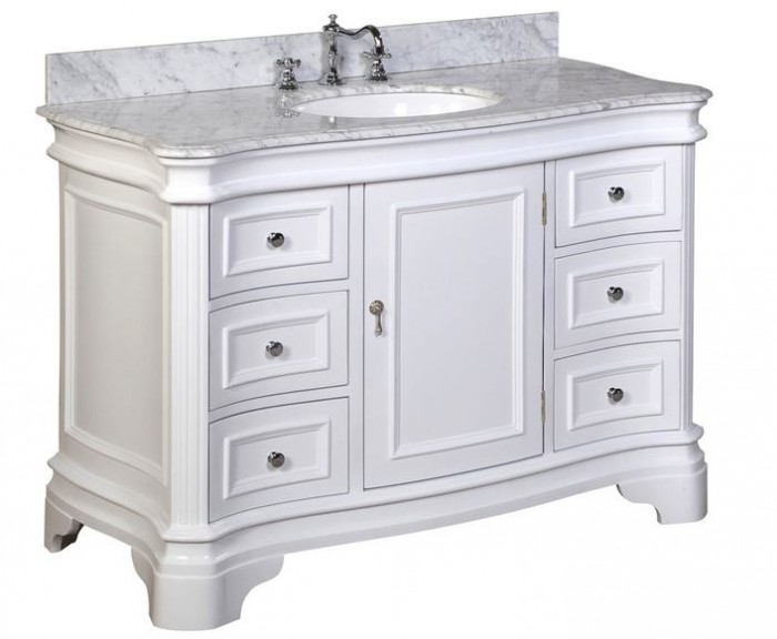48Inch White FreeStanding Vanities for a Bath Renovation