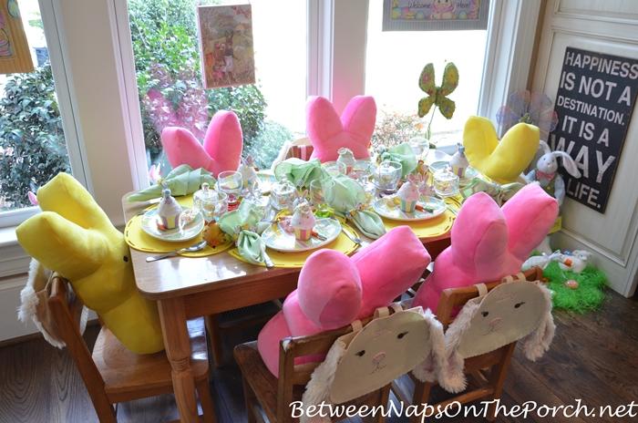 Easter Spring Table Setting for Children