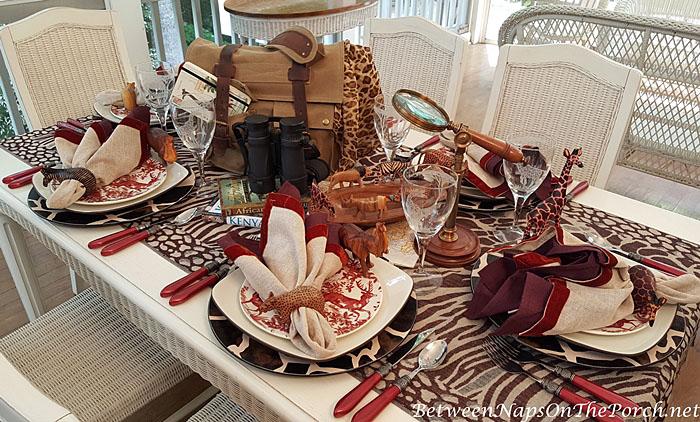 An African Safari Themed Table Setting