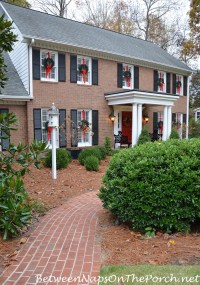 Easy Way To Hang Wreaths on Exterior Windows