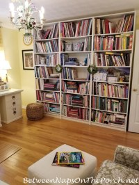 Decorate Your Bookshelves with a Small Shelf-Size Lamp