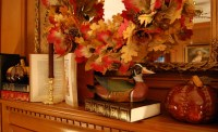 Decorate a Fireplace Mantel for Fall or Autumn with Books ...