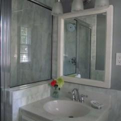 Chrome Kitchen Faucet Make Cabinets 1980's Bath Renovation, Sleek And Modern