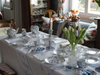 Easter Breakfast Table Setting Tablescape
