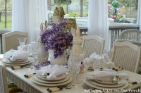 Easter Tablescapes Table Settings with Wisteria and Bunny ...