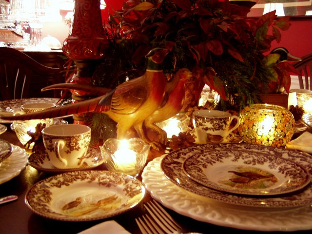 Thanksgiving Tablescape Table Setting With Spode Woodland