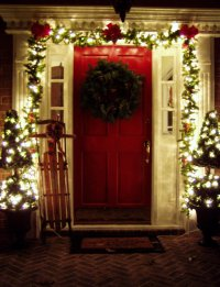 Decorating the Front Porch for Christmas, 2008