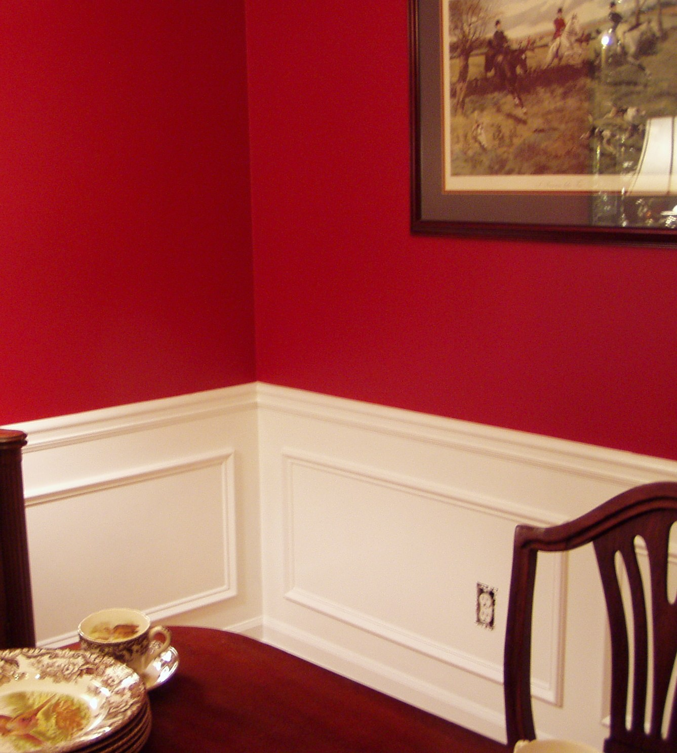 picture frame moulding below chair rail viking design adding molding to the dining room