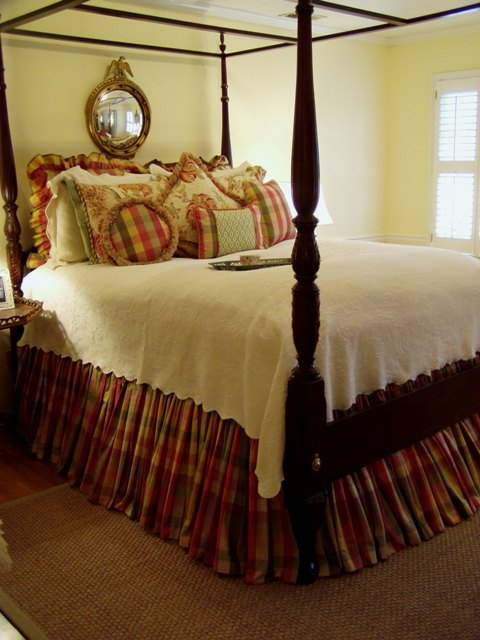 Master Bedroom Renovation with 4Poster Bed and Plaid