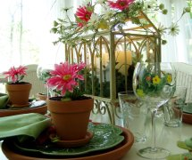 Garden Party Table Setting Tablesscape