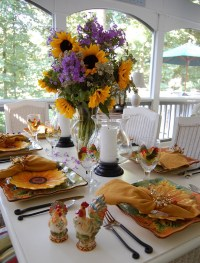 Here Comes the Sun!   Sunflowers, Table Settings and ...