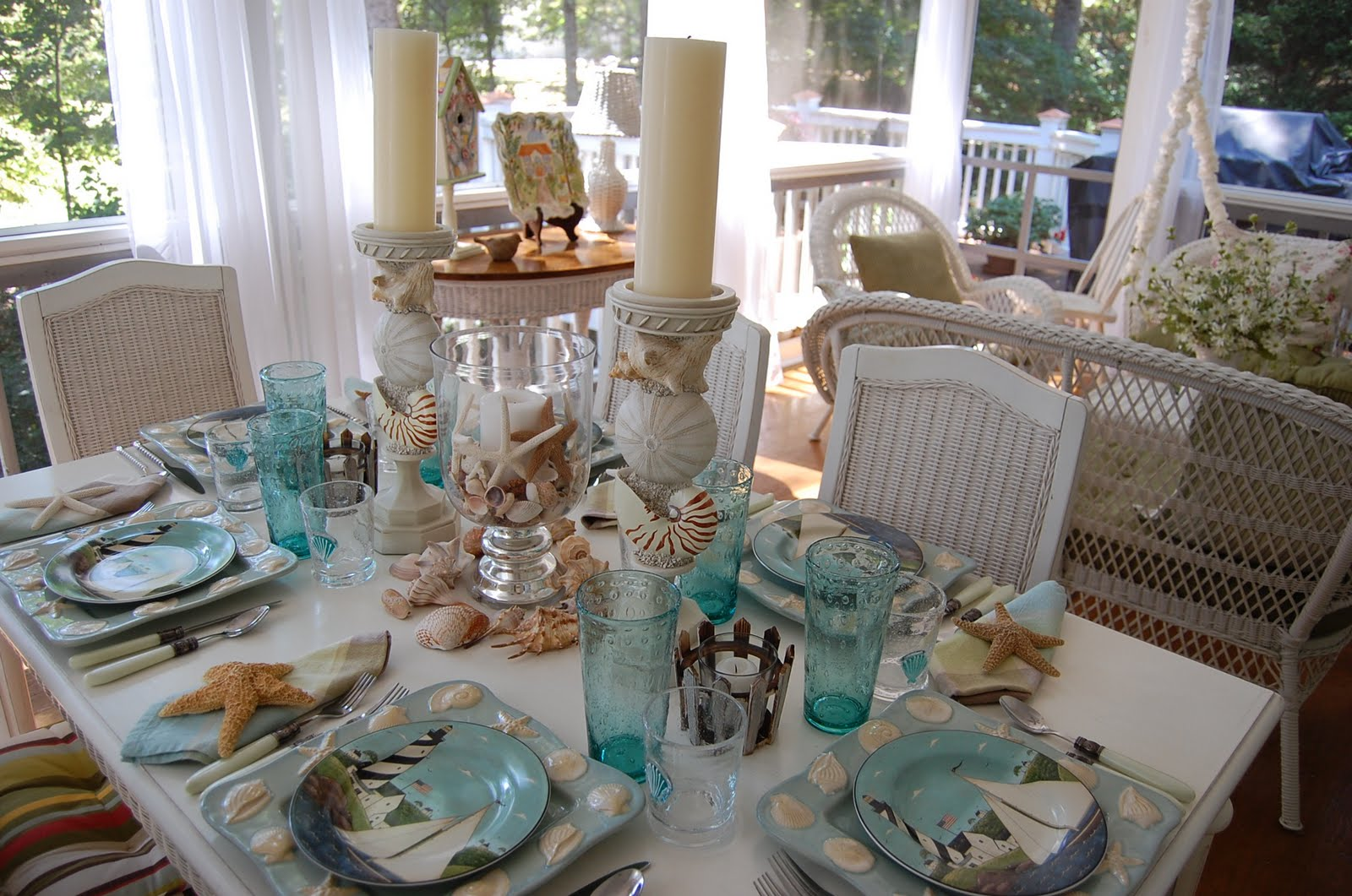 beach tablescape welcome to the th tablescape thursday