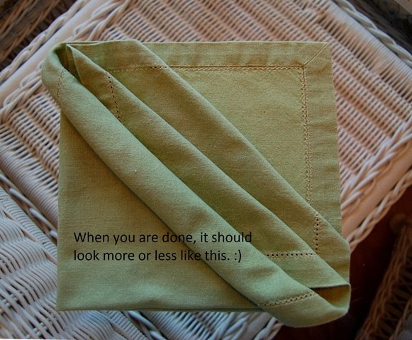 napkin folding tutorial triple