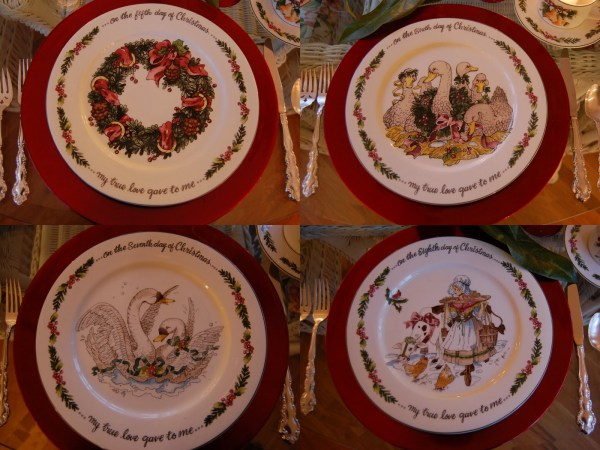 Christmas Tablescape Table Setting With 12 Days Of Theme