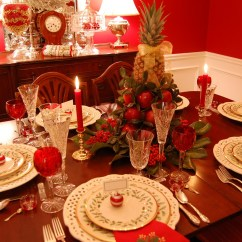 Fruit Kitchen Curtains Bosch Machine Contemporary Urban Home Ideas Christmas Tablescape With Lenox Holiday And A Colonial Print