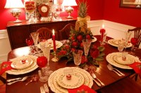 Read Online Christmas Table Setting Tablescape With Dept ...