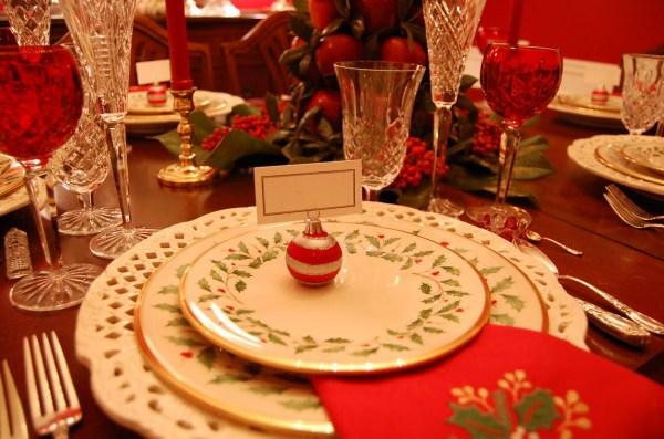 Lenox Christmas Holiday Table Setting