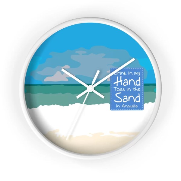 Anguilla Beach Wall clock
