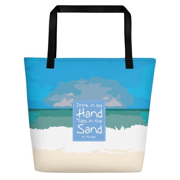 Aruba Beach Bag Ocean Blue