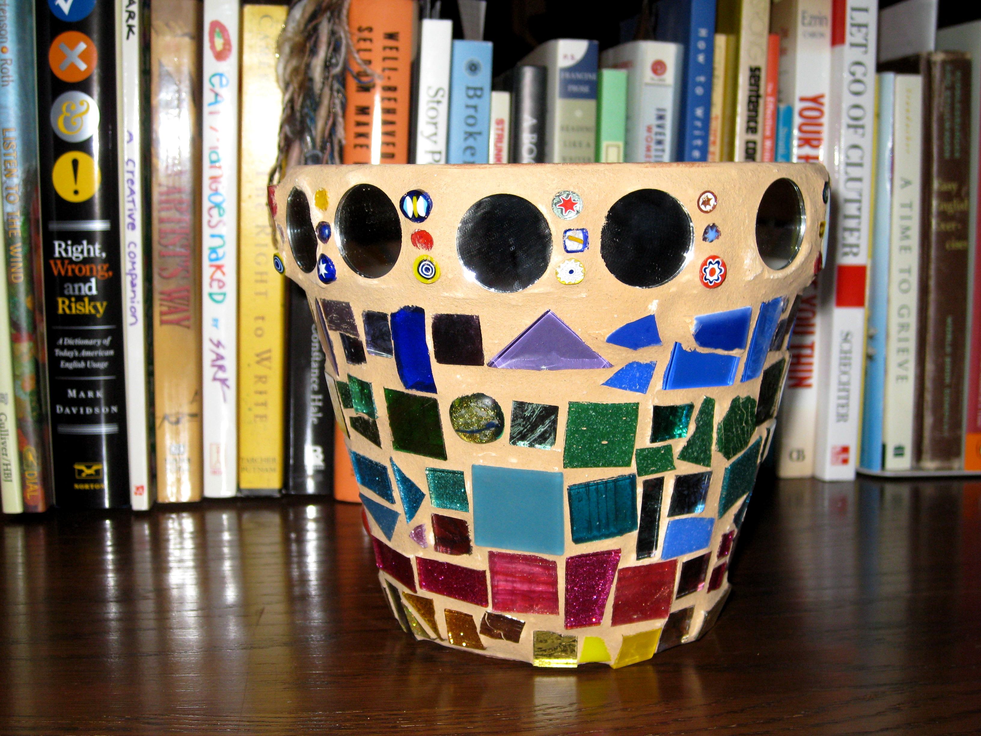 Danielle's First Mosaic Flower Pot