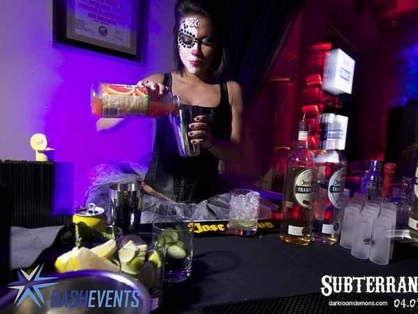 Attractive Female Bartender