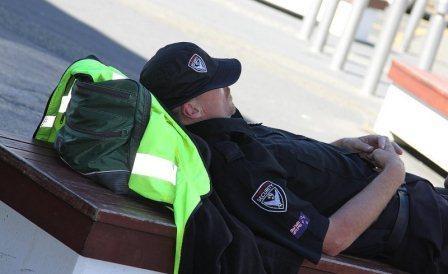 Parking Enforcement Officer Sleeping