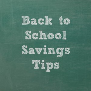 More back to school savings tips