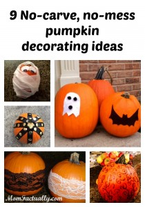 9 No-carve, no-mess ways to decorate pumpkins