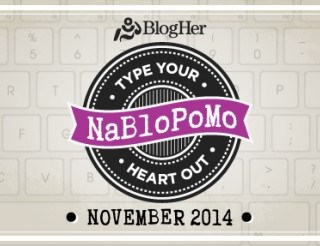 Happy November, and happy NoBloPoMo (National Blog Posting Month)