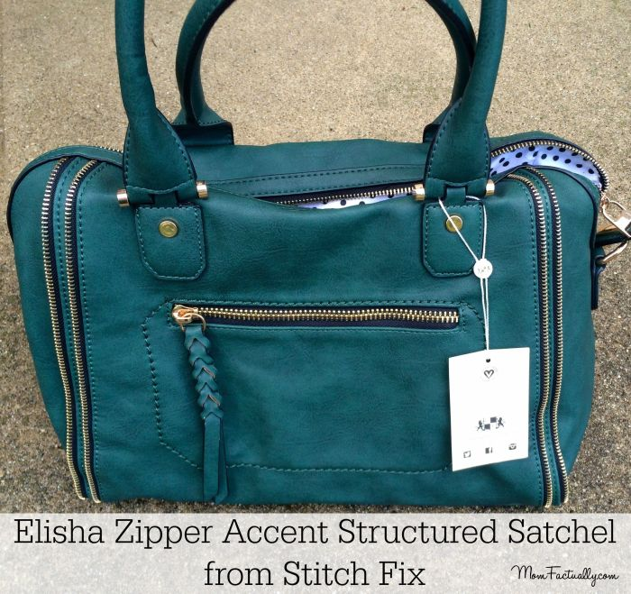 Elisha Zipper Accent Structured Satchel Stitch Fix