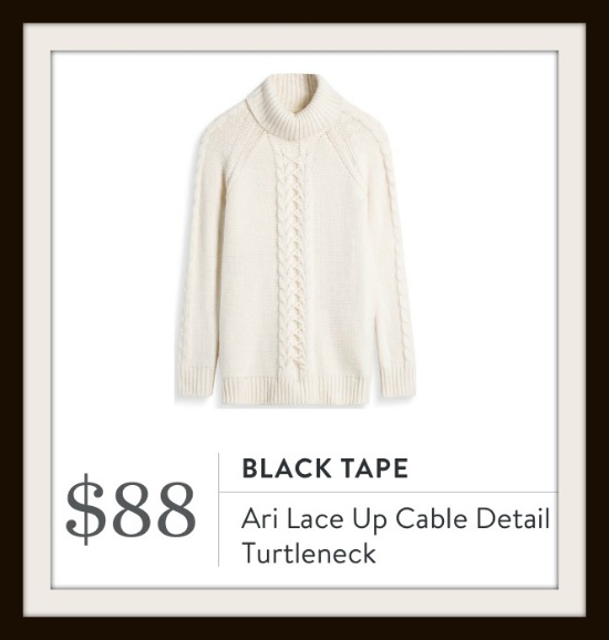 Ari Lace Up Cable Detail Turtleneck by Black Tape from Stitch Fix