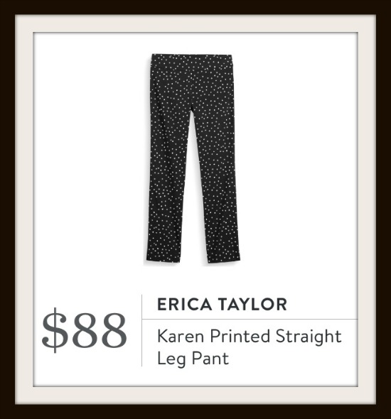 Erica Taylor - Karen Printed Straight Leg Pant from Stitch Fix