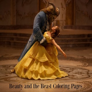 10 free Beauty and the Beast coloring pages