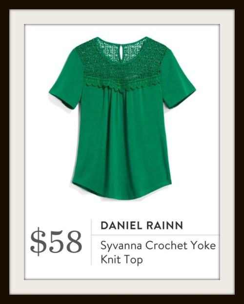 Stitch Fix Daniel Rainn Syvanna Crochet Yoke Knit Top