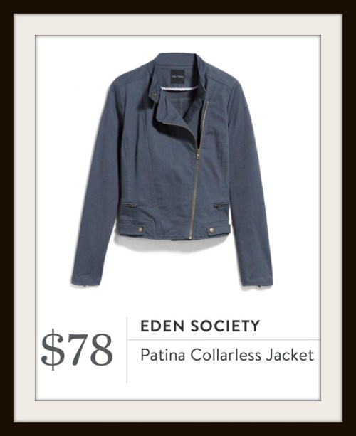 Stitch Fix Eden Society Patina Collarless Jacket