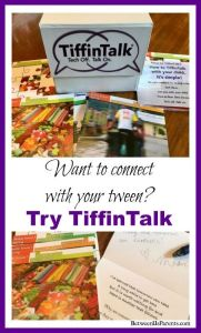 TiffinTalk is a great way to connect with tweens. Tech off, talk on!