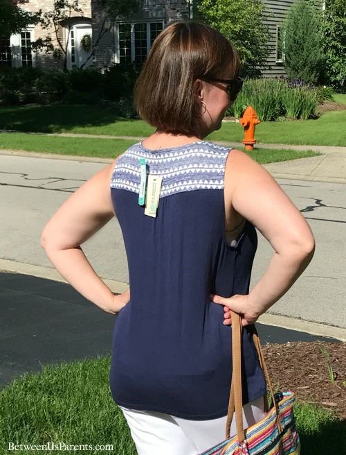 Back of Skies are Blue Mandrean top from Stitch Fix shirt