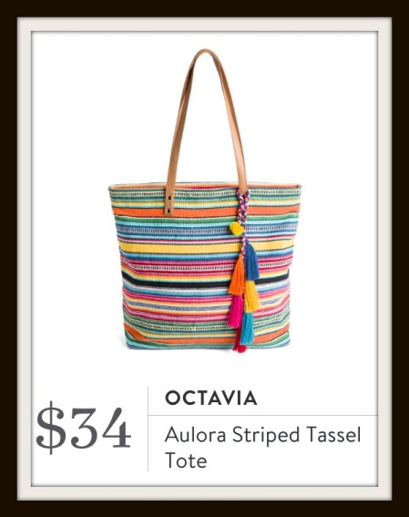 Stitch Fix Octavia Aurora Striped Tassel Tote